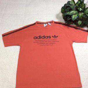 Adidas Orange Black Short Sleeve Graphic T-Shirt L